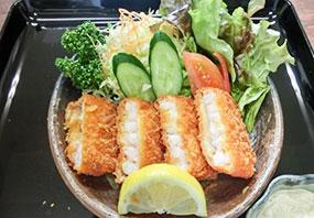 海老カツフライ定食